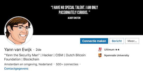 Voorbeeld beeld op LinkedIn 1